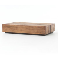 Grady Reclaimed Peroba Wood Slab Coffee Table 70""