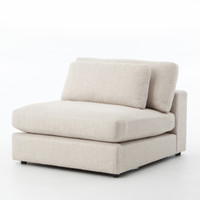 Bloor Beige Armless Sectional
