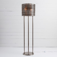 Maxwell Tesla Coil Antiqued Pewter Floor Lamp