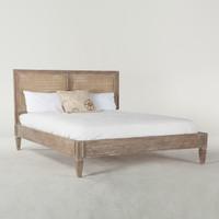 Parisian Vintage Grey Oak King Platform Bed