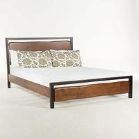 Live Edge Solid Wood & Iron King Platform Bed