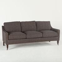 Pasadena Upholstered Three-Seater Sofa - Wool Check