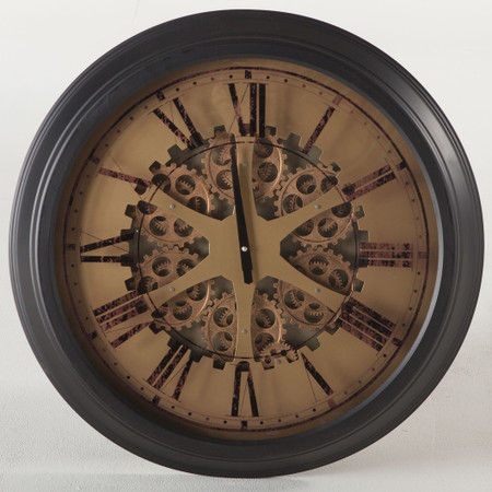 London Industrial Gears Round Wall Clock 26 Quot Zin Home