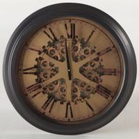 "London Industrial Gears Round Wall Clock 26"""