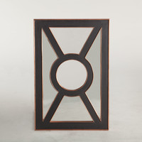 London Black and Copper Mirror