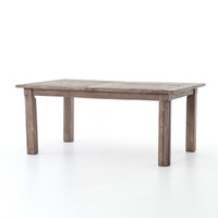Cintra Grey Reclaimed Wood Extending Dining Table 72-96""