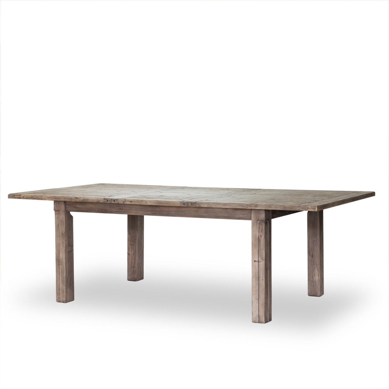 Cintra Grey Reclaimed Wood Extending Dining Table 72 96