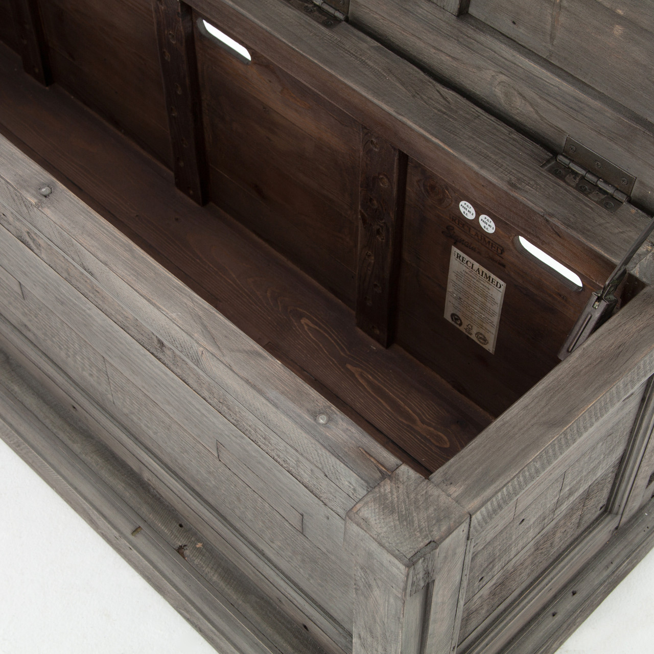 cintra grey reclaimed wood bed end blanket chest