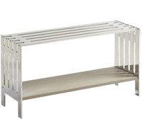 Grayson Modern Kids Bed End Bench - Stainless Steel