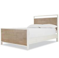 #MyRoom Modern Kids Full Panel Bed - Gray & White