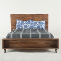 Brooklyn Industrial Loft Queen Platform Bed - Reclaimed Wood