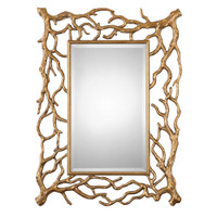 Uttermost Sequoia Gold Tree Branch Mirror