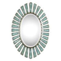 Uttermost Morvoren Blue-Gray Oval Mirror