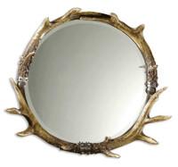 Uttermost Stag Horn Round Mirror