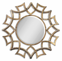 Uttermost Demarco Round Antique Gold Mirror