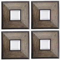 Uttermost Fendrel Squares Wood Mirror Set/4