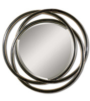 Uttermost Odalis Entwined Circles Black Mirror