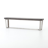 Ashton Lavastone-Top Stainless Steel Leg Bench