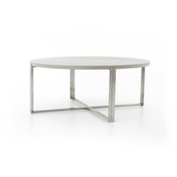 """Colt Lavastone Outdoor 71"""" Round Dining Table"""