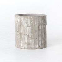 White Washed Concret Planter 18""