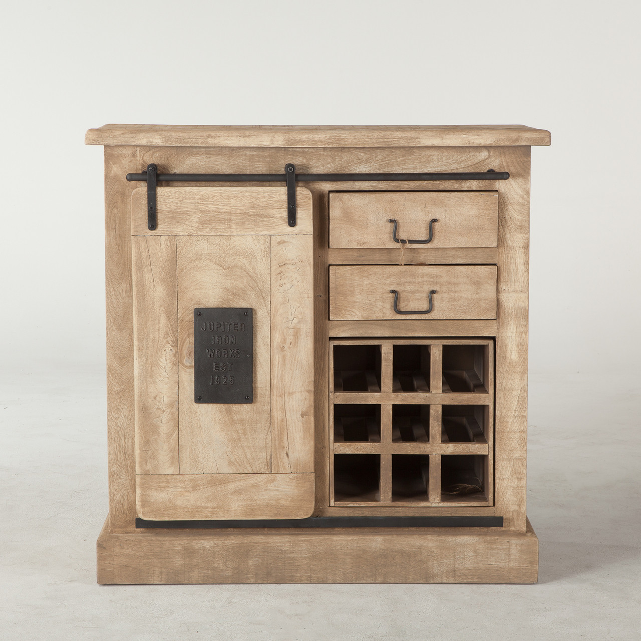 Bethlehem Steampunk Industrial Wine Bar Cabinet Zin Home