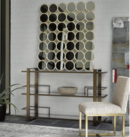 Modern Hollywood Regency Accent Mirror - Champagne