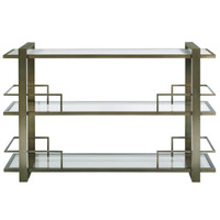 Modern Hollywood Regency Bar Console Table - Bronze