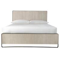 Modern Grey Oak Keaton King Size Platform Bed Frame
