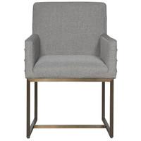 Cooper Modern Bronze Metal Leg Upholstered Arm Chair