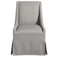 Townsend Modern Grey Upholstered Skirted Dining Chair- grey
