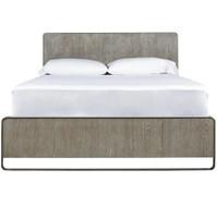 Wilshire Modern Oak Wood and Metal King Platform Bed Frames