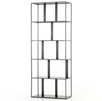 Waterloo Industrial Iron Geometric Bookshelf