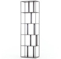 Waterloo Industrial Metal Geometric Narrow Bookcase