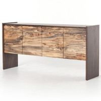 Isla Spalted Primavera Wood 4 Door High Sideboard