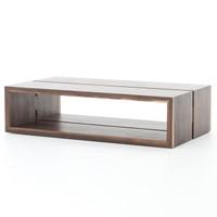 "Henley Double Wood Slab Coffee Table 57"""