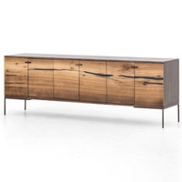 Cuzco Yukas Wood Modern Low Media Console 78""