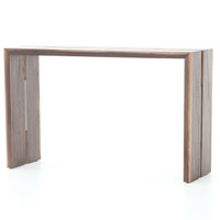Henley Double Wood Slab Console Table 52""