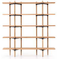 Danish Mid-century Modern Drift Oak Bookcase
