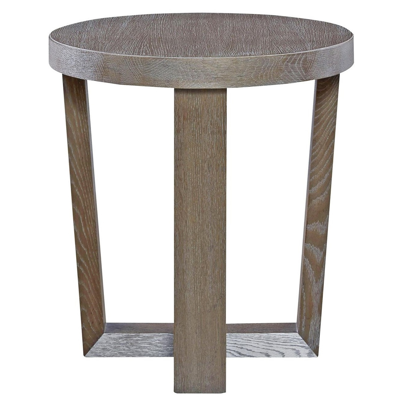 Wilshire Modern Oak Wood Round End Table, 642815 ...