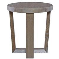 Wilshire Modern Oak Wood Round End Table, 642815