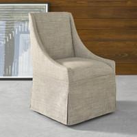 Gibson Modern Nutmeg Fabric Skirted Dining Chair