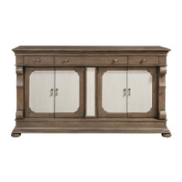 Belgian Cottage Wine Storage Buffet Credenza