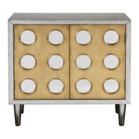 Bea Mid-Century Modern Mirrored Wine Cabinet