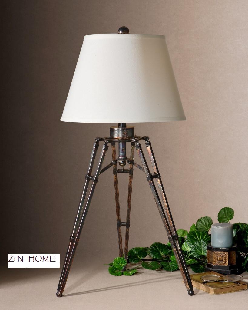 Tustin Rustic Tripod Table Lamp Zin Home