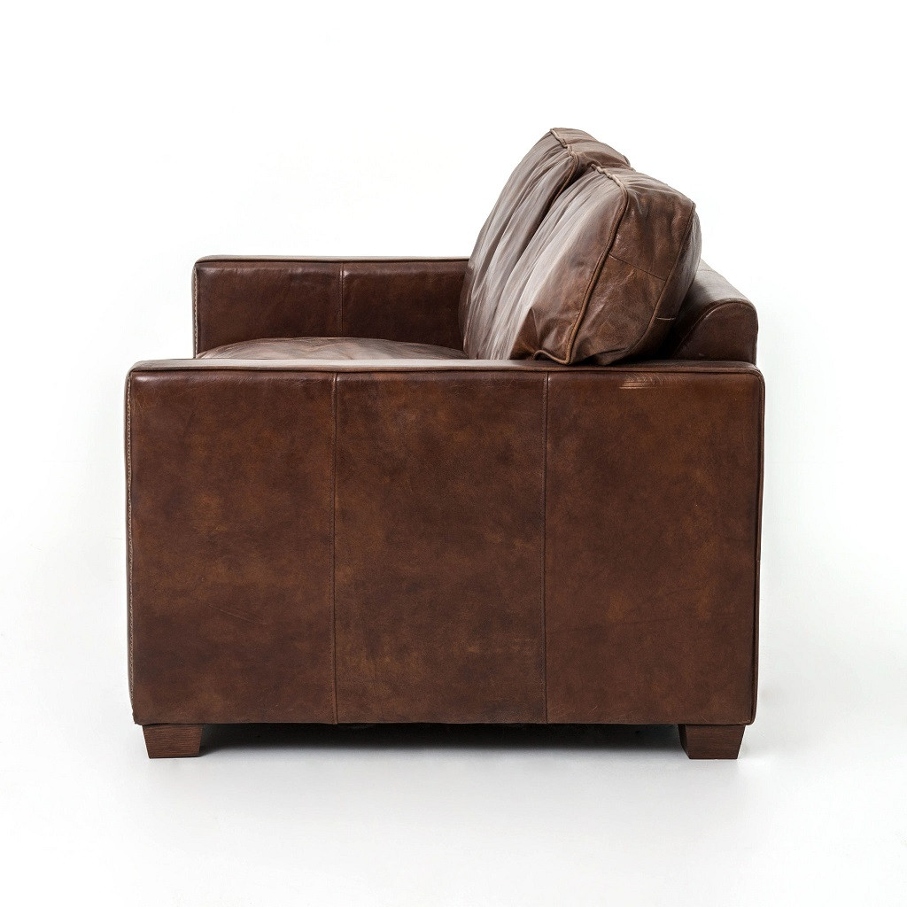 ... Larkin 2 Seater vintage leather couch ...