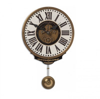 Vincenzo Bartolini Cream Pendulum Wall Clock