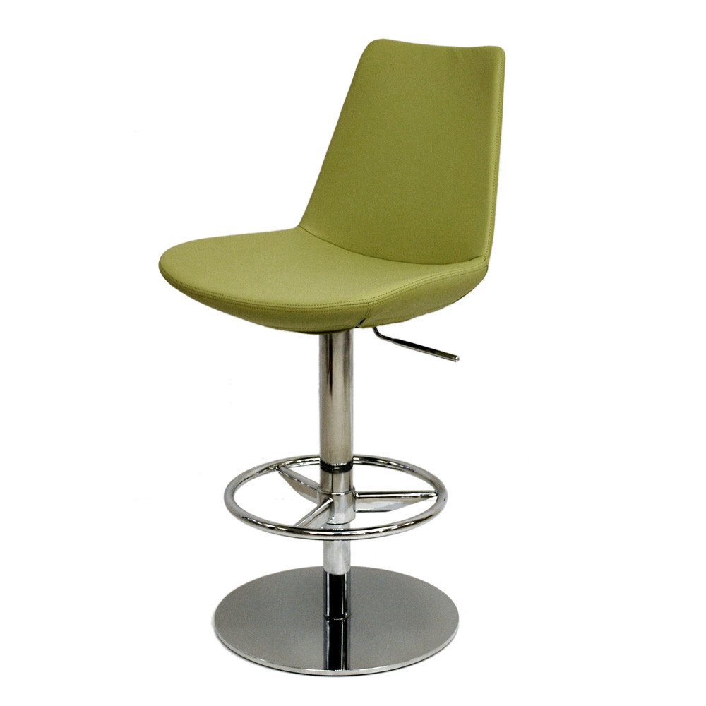 Eiffel adjustable piston bar stool zin home for Motorized bar stool for sale
