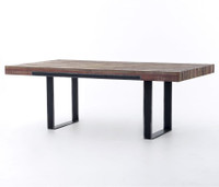 "Bina Graham Industrial Reclaimed Wood 84"" Dining Table"