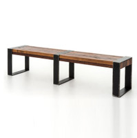Bina Warren Industrial Reclaimed Wood Bench