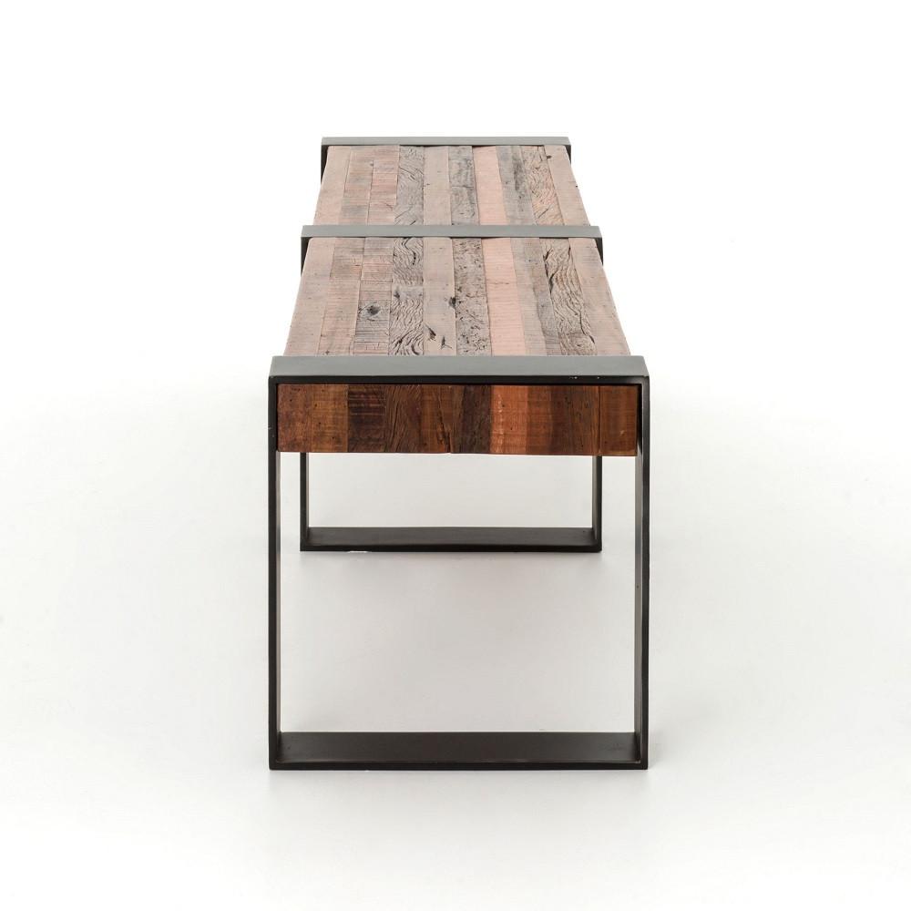 ... Bina Warren Industrial Reclaimed Wood Bench ... - Bina Warren Industrial Reclaimed Wood Dining Bench Zin Home
